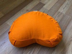 Orange Half Moon Meditation Cushion