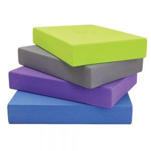 Stack of yoga blocks